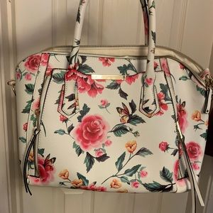 Handbags - Floral white leather Italian handbag